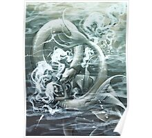 Mermaid and Seamonster Poster