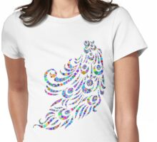 Peacock Feathers Womens Fitted T-Shirt