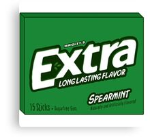 Extra Spearmint Gum Canvas Print