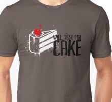 Will Test For Cake: Portal Unisex T-Shirt