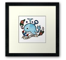 Nope Nope // Emoji Tattoo Series Framed Print