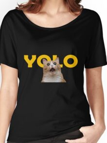 YOLO Cat Women's Relaxed Fit T-Shirt