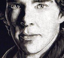 Sherlock in Scratchboard Sticker