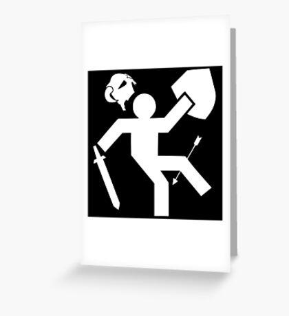 Arrow To The Knee Skyrim Greeting Card