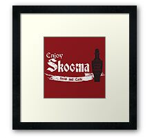 Enjoy Skooma: The Elder Scrolls Framed Print