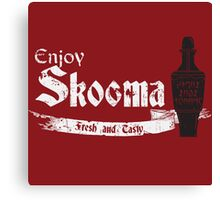 Enjoy Skooma: The Elder Scrolls Canvas Print