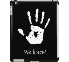 Dark Brotherhood - We Know iPad Case/Skin