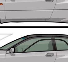 Subaru Alcyone SVX Duo Liquid Silver Sticker