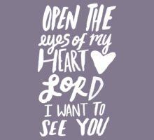 Open the Eyes of My Heart Lord II Kids Tee