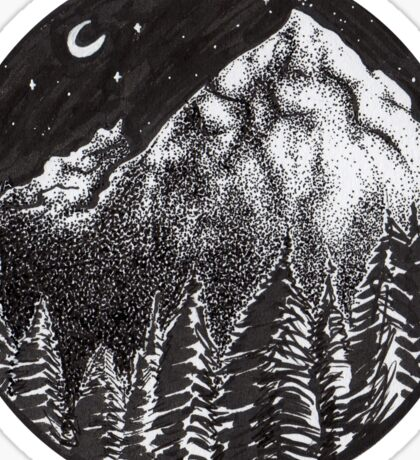Mountain Forest Sticker