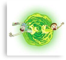 Rick and Morty Portal Jumping Canvas Print