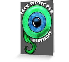 Jack Like A Boss Big Eye Greeting Card