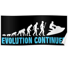 Funny Jet Skiing The Evolution Of Man Continues Poster