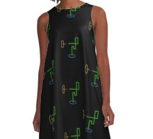 Snaking through Portals A-Line Dress