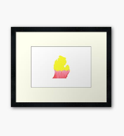 Michigan Forest Poster Framed Print