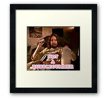 Not a Bubblegummer Framed Print