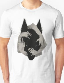 Wolf Wrapped in Hands Unisex T-Shirt