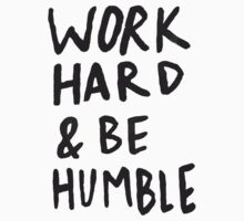 Work Hard and Be Humble Kids Tee