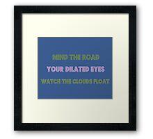 White Ferrari Lyrics Highlight Framed Print