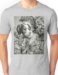 Vintage Hunting Dog Print T-Shirt