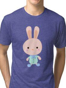 Kids cartoon bunny Tri-blend T-Shirt