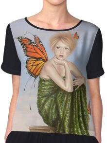 Sunrise Monarch Butterfly Fairy Women's Chiffon Top