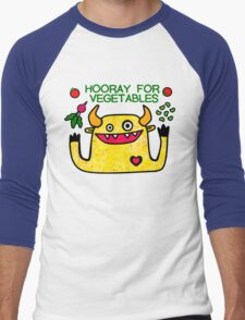 Hooray for Vegetables Men's Baseball ¾ T-Shirt