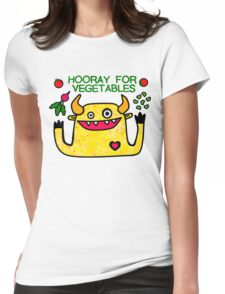 Hooray for Vegetables Womens Fitted T-Shirt