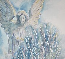Fountain Angel by Jeanne Allgood