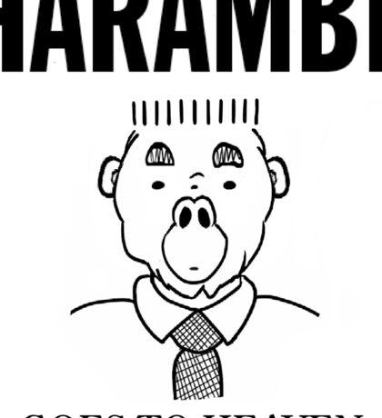 Harambe Goes To Heaven Sticker
