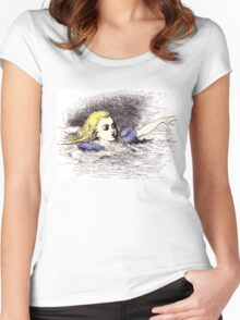 Alice in a Pool of Tears Women's Fitted Scoop T-Shirt