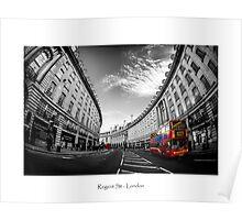 Regent Street Busses Poster