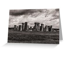 Stonehenge  in Toned Monochrome Greeting Card