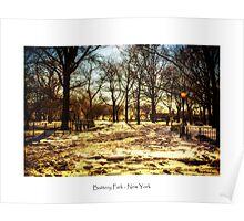 Battery Park Manhattan in Winter Poster