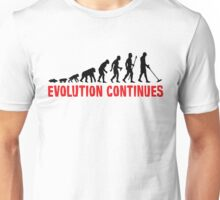 Funny Metal Detecting Evolution Continues Unisex T-Shirt