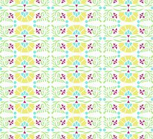 Folk Art Flower Flourish Pattern by Betsy Bush
