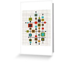 Mid-Century Abstract Squares Greeting Card