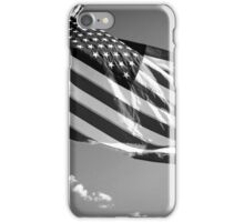 American Flag in Black and White iPhone Case/Skin