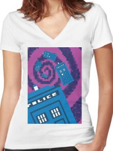 Pixel Who? Women's Fitted V-Neck T-Shirt