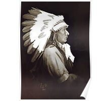 Native Amerivan chief digital painting Poster