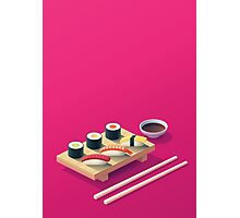 Sushi Set Isometric Photographic Print