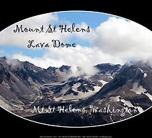 Mount St Helens lava dome 2 oval by Dawna Morton