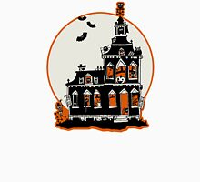 Vintage Style Haunted House - Happy Halloween Unisex T-Shirt