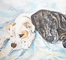 Dogs Resting  by Jeanne Allgood