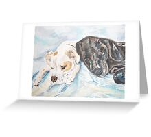Dogs Resting  Greeting Card