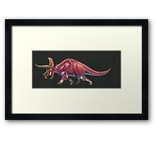 Triceratops Horridus Muscle Study (No labels) Framed Print