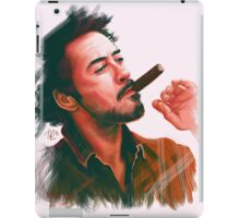 Robert Downey Jr. with cigar, digital painting  iPad Case/Skin