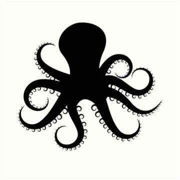 """Octopus Silhouette "" Art Prints by mrrodriguez 