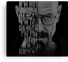 Heisenberg Knocks Canvas Print