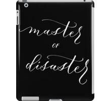 Master of Disaster white iPad Case/Skin
